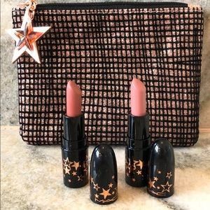 Mac lipsticks and cosmetics bag